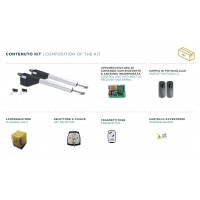 KE230 KIT AUTOMAZIONE ANTE BATTENTI 400 NEW